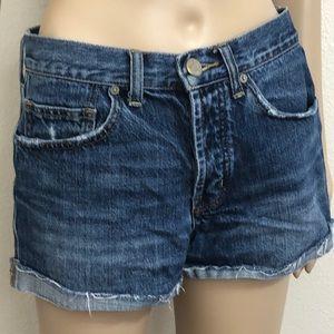 2/$35 UO BDG Tomgirl Button-fly Medium Wash Shorts